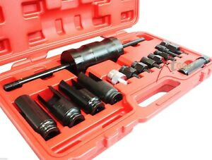 14pc Injector Extractor Puller With Common Rail Adaptor Slide Hammer Tool