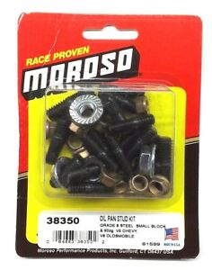 Moroso 38350 Small Block Chevrolet Oil Pan Stud Kit Sbc 350 383 Grade Steel
