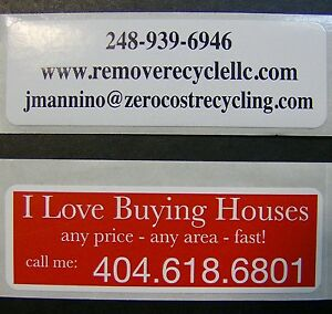 Printed Rectangle Labels 1000 Custom Business Stickers 1 X 3 On Roll 1 color