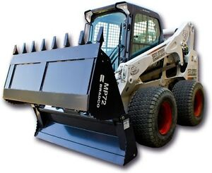 Skid Steer 4 In 1 Bucket Bradco Md 4 in 1 Bucket 72 Tooth Edge