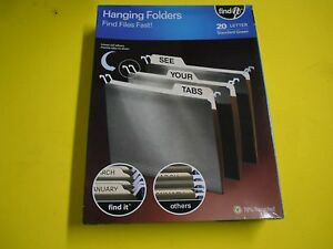 New Find It Hanging File Folders Letter 5 Tab Green 20 box Ft07033