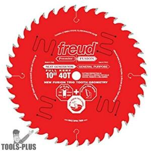 Freud 10 X 40 Tooth Fusion Circular Saw Blade P410 New