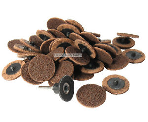 50pc 2 Coarse Quick Change Surface Conditioning Prep Disc W Roloc Holder Usa