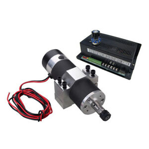 New 600w Cnc Spindle Motor Kits W Pwm Speed Control Power Supply Mount Bracket