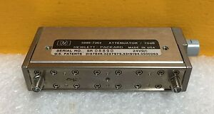 Hp 5086 7364 Dc To 4 Ghz 0 To 70 Db Sma Programmable Step Attenuator Tested