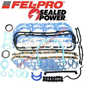 New Fel Pro Engine Overhaul Gasket Set 1980 1985 Chevy Bb 454 1974 1985 427