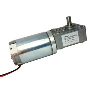 24volt Dc 160rpm High Speed Drive Worm Geared Motor With Gearbox Gear Reducer