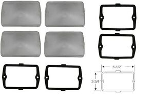 1960 Cadillac Parking Lens Set Of 4 With Gaskets Reproduction