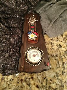 Swiss Norway Folk Art Carved Wood With Bell Theom And Key Rack Awesome Workman