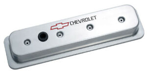 Proform 141 130 Small Block Chevy Centerbolt Tall Aluminum Valve Covers Polished