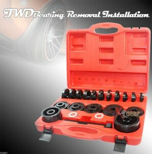 Fwd Front Wheel Drive Bearing Removal Adapter Puller Pulley Tool Kit