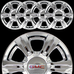 4 Chrome 2014 15 16 Gmc Terrain 17 Wheel Skins Full Rim Covers Center Hub Caps