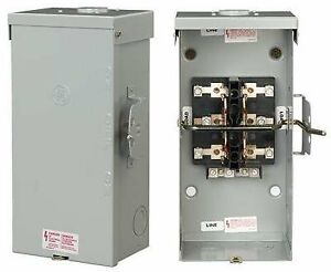 Ge Tc10323r Non fused Emergency Power Transfer Switch 100a 120 240v