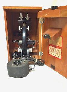 Vintage Bausch Lomb Reflected And Transmitted Light Microscope And Transformer
