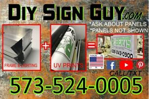 2x6 Outdoor Lighted Sign Box L e d diy Kit