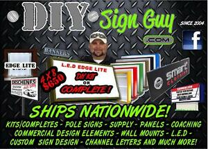 4x6 Outdoor Lighted Sign Box L e d diy Kit