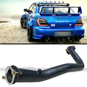 Fit 02 07 Wrx Sti Turbo Stainless 3 Black Down Pipe Downpipe Exhaust