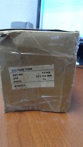 Kimax Culture Tube 20x150mm lot Of 72