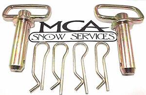 Western Snow Plow Pin Unimount 2 Hitch Pins 4 Hairpin Cotter 93028 91965