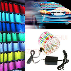 Car Sticker Music Rhythm Led Flash Light Sound Activated Equalizer Guitar 90 10