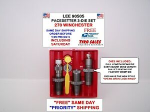 90505 * LEE PACESETTER 3-DIE SET * 270 WINCHESTER