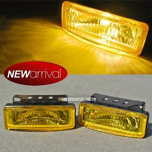 Fit Corolla 5 X 1 75 Square Yellow Driving Fog Light Lamp Kit Switch