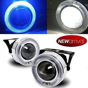 For 5 Series 3 Blue Halo Projector Bumper Driving Fog Light Lamp Kit Set