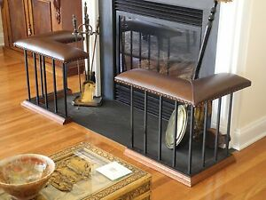 Club Fender Fireplace Bench Corner Set With Classic Baluster Package