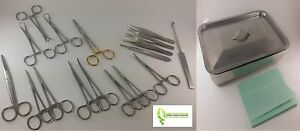Feline Spay Pack 17 Instruments box German Stainless Steel Ce Veterinary