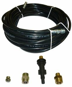 Ar Blue Clean Sewer Jetter Kit 50 X 1 8 Hose And Nozzle 1 To 3 Pipes