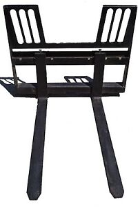 Walk Thru Skid Steer Forks Bobcat John Deere Skidsteer Loader Case Attachment