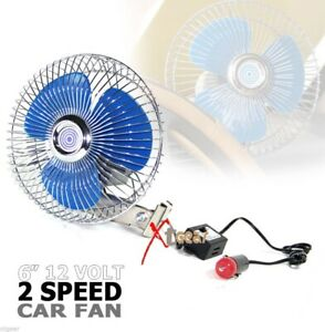 6 12 Volt 2 Speed Auto Cooling Ocillating Air Fan For Truck Car Boat