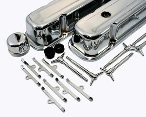 Chrome Dress Up Kit Pontiac V8 301 350 455 Gto Firebird Valve Covers 3 5 Tall