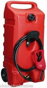 14 Gal Flo N go Duramax 06792 Red Portable Wheeled Gas Fuel Container 627366