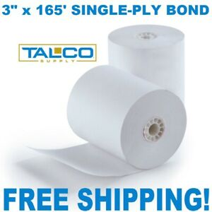 50 Star Sp700 3 X 165 Bond non thermal Pos Paper Rolls free Shipping