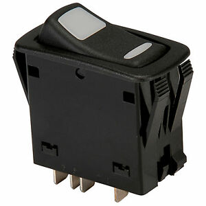 Nte 54 157 Dpdt Waterproof Illuminated Rocker Switch