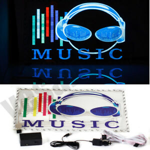 Car Music Rhythm Led Flash Light Sticker Sound Activated Equalizer Jt34 45 30cm