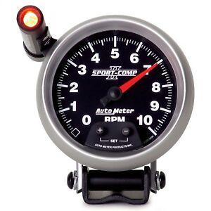 Autometer 3690 Sport Comp Ii Electric 3 3 4 Tachometer W Shift Light 0 10 000
