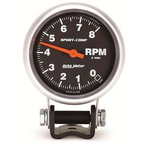 Autometer 3708 Sport Comp Mini Competition Electric 2 5 8 Tachometer 0 8k