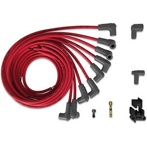 Msd Ignition 31229 Spark Plug Wires Red 8 cylinder 90 Degree Boots For Hei Cap