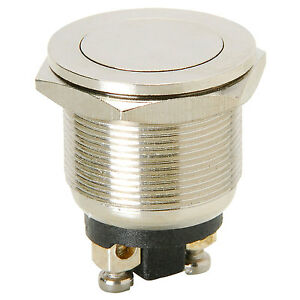 Momentary N o Metal Flat Flush Mount Push Button Switch