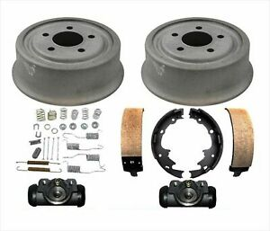 Drums Brake Shoes Spring Wheel Cylinders For Jeep Wrangler 01 06 With Rear Drums