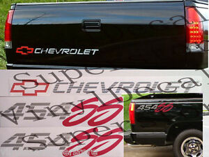 454 Ss 454ss Chevrolet Tailgate bedside Decal Kit 92 93