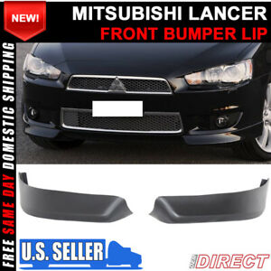 For 08 15 Mitsubishi Lancer Oe Style Pp Front Bumper Lip 2 Pc