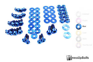 Dress Up Bolts For 07 15 R35 Gtr Blue Ti Titanium Engine Bay Kit
