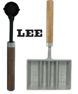 LEE Lead Dipper & 4-Cavity Ingot Mold with Handle Combo # 90029 + 90026 New!