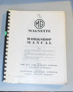 Bmc Mg Magnette Za Zb Workshop Manual Akd573 1 1957