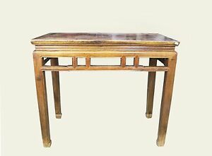 A Chinese Antique Horse Leg Wooden Desk Tall Table Desk 31 5 H X 35 6 W