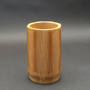 Japanese Bamboo Octogon Shape Pen Holder Simple Elegant For Your Caligraphy