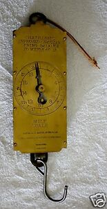 Vintage Lg Chatillon S Brass Farmers Milk Scale Spring Balance To Weigh 60 Lbs